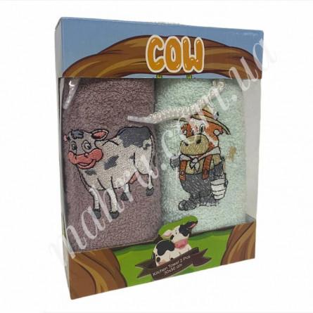 Набор полотенец корова 2 - фото 3