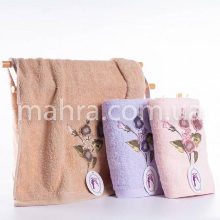 Полотенца фиалки объемные - фото 1