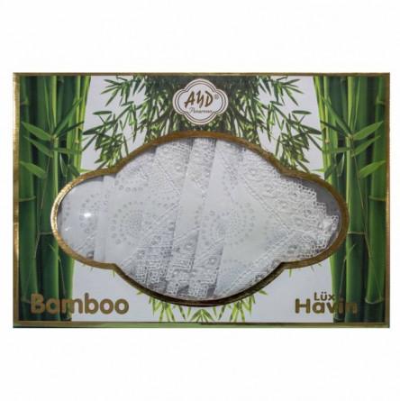 Бамбуковая скатерть с кружевом - фото 1
