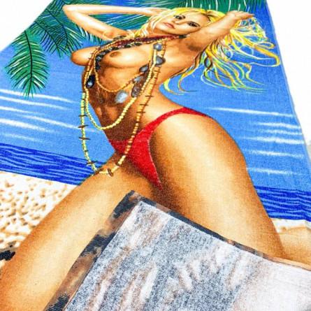 Полотенце пляжное Девушка 02 - фото 3