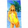 Полотенце пляжное Девушка 02 - фото 1