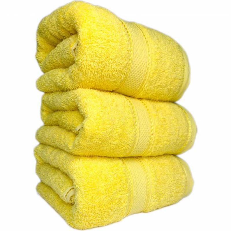 Полотенце жёлтое  - фото 1