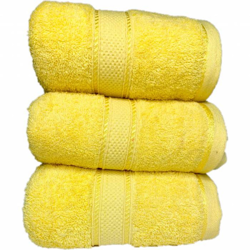 Полотенце жёлтое  - фото 2
