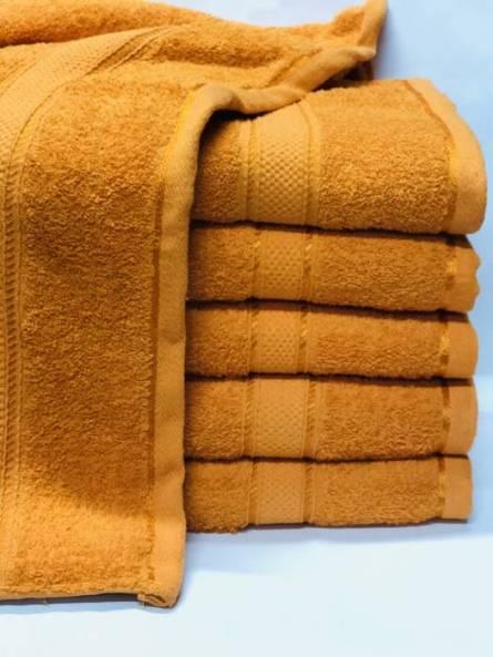 Полотенце банное оранжевое - фото 1