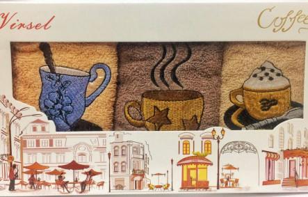 Набор кухонных полотенец Кофе - фото 1