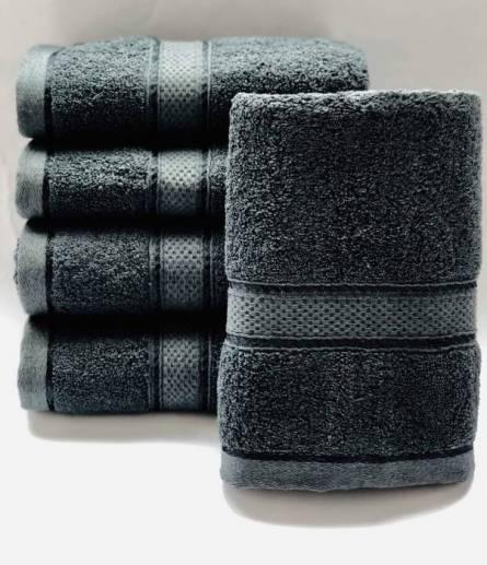 Полотенце серое  - фото 1