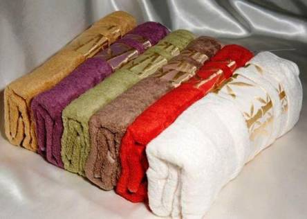 Фото  товара Бамбуковые полотенца Золото