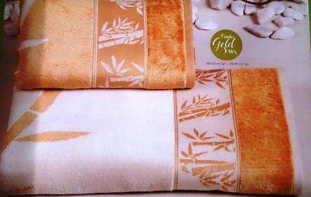 Бамбуковые велюровые полотенца Голд - фото 2