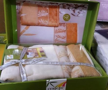 Бамбуковые велюровые полотенца Голд - фото 1