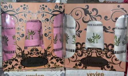 Бамбуковый набор полотенец 3-ка - фото 1