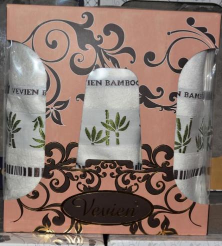 Бамбуковый набор полотенец 3-ка - фото 2