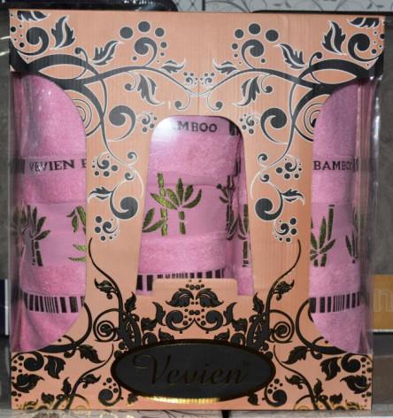 Бамбуковый набор полотенец 3-ка - фото 3