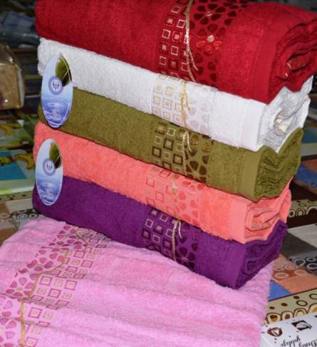 Фото  товара Банные полотенца Цветной кубик