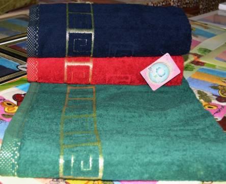 Фото  товара Банные полотенца Тёмный версаче