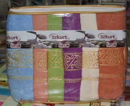 Фото  товара Банные полотенца Завитушка золото