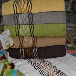 Фото  товара Банные полотенца зебра-01 Vip cotton