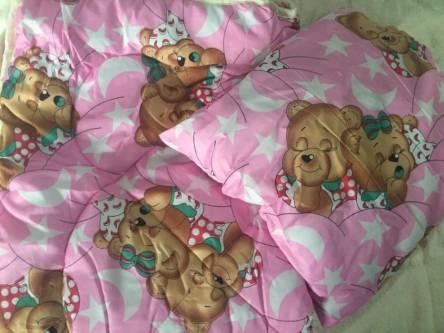 Детское одеяло силиконизированное волокно + подушка  - фото 4