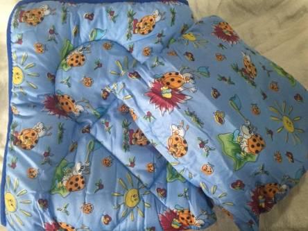 Детское одеяло силиконизированное волокно + подушка  - фото 6