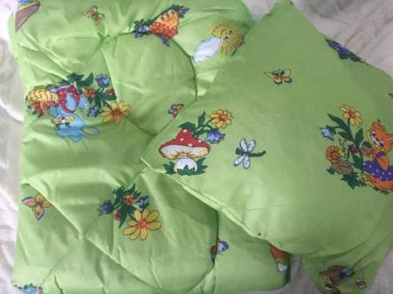 Детское одеяло силиконизированное волокно + подушка  - фото 7