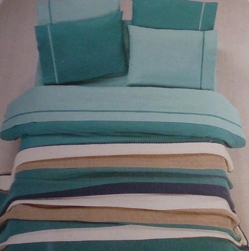 Комплект постельного белья с вязаным покрывалом - фото 2