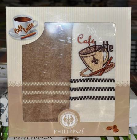 Фото  товара Кухонные полотенца Кофе двойка