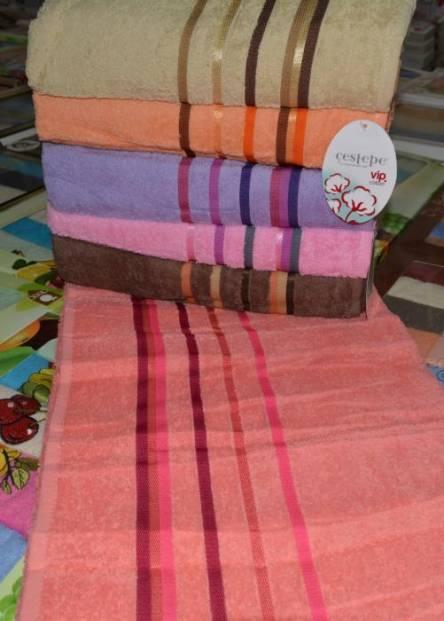 Фото  товара Лицевые полотенца Цветная полоска