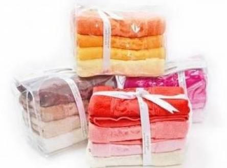 Фото  товара Лицевые полотенца в сумке Бамбук