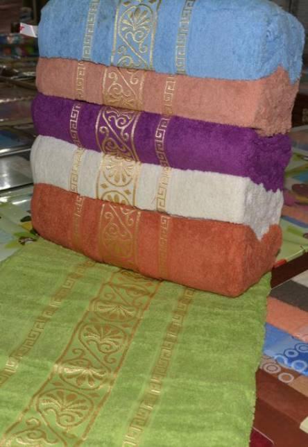 Фото  товара Лицевые полотенца завитушка золото