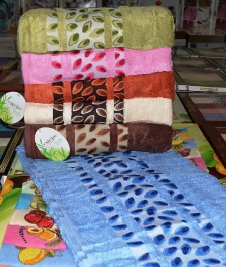 Фото  товара Метровые полотенца Бамбук листочки 01