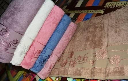 Фото  товара Метровые полотенца Бамбук Роза
