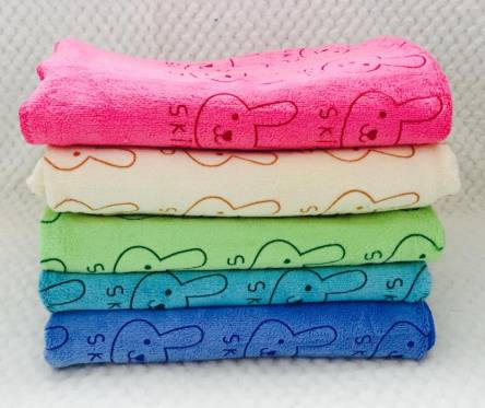 Метровые полотенца Микрофибра Мелкий Заяц - фото 1