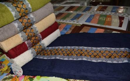 Фото  товара Метровые полотенца Ромбик Vip cotton