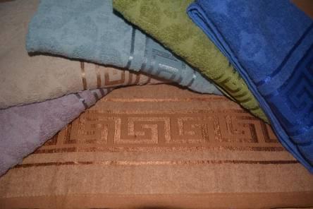 Фото  товара Банное Полотенце Версаче-Теснёнка