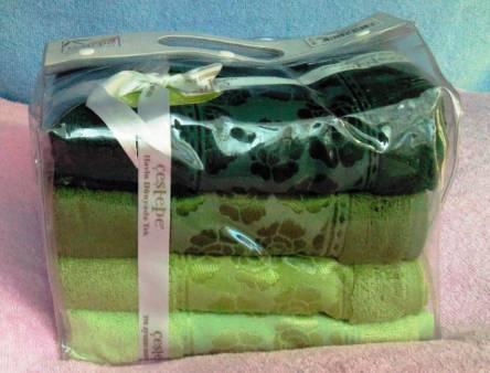 Набор бамбуковых полотенец в сумочке - фото 4