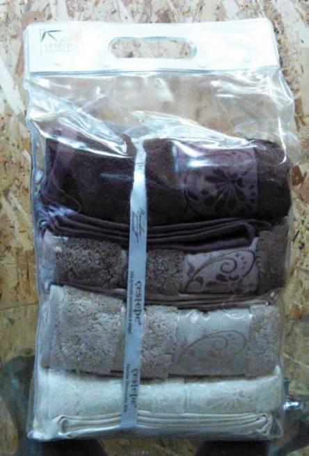 Набор бамбуковых полотенец в сумочке - фото 5