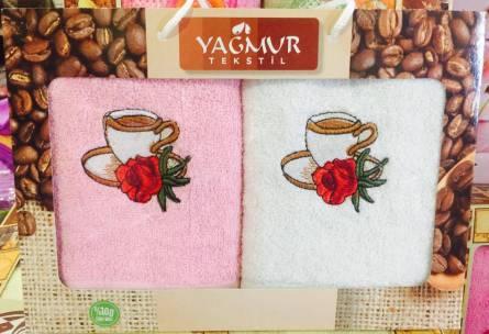 Фото  товара Набор кухонных полотенец Кофе Двойка