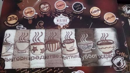 Набор кухонных полотенец Неделька Кофе - фото 1