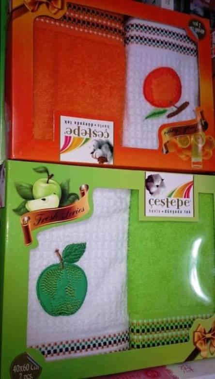 Набор кухонных полотенец Яблочко - фото 1