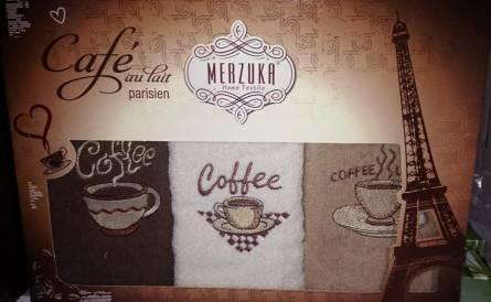 Набор полотенец Кофе тройка - фото 1