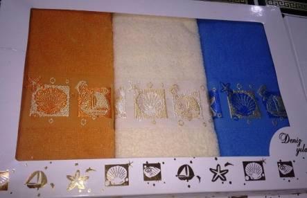 Набор полотенец Ракушка тройка - фото 1
