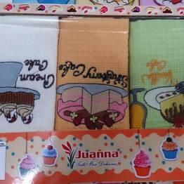 Фото  товара Набор вафельных кухонных полотенец Кейк