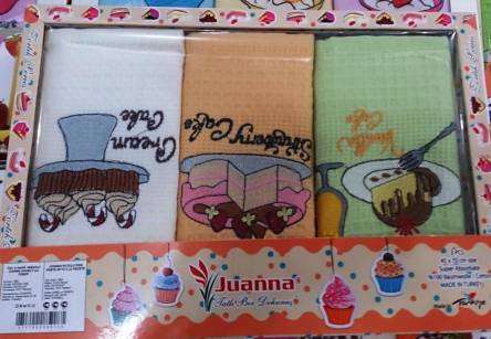 Набор вафельных кухонных полотенец Кейк - фото 1