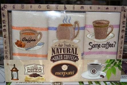 Набор вафельных кухонных полотенец Natural - фото 1