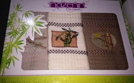 Набор вафельных полотенец Nazenin - фото 1