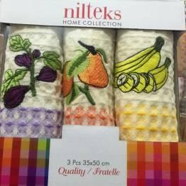 Фото  товара Набор вафельных полотенец Olive тройка