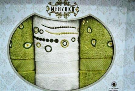 Наборы турецких полотец Merzuka тройка - фото 4
