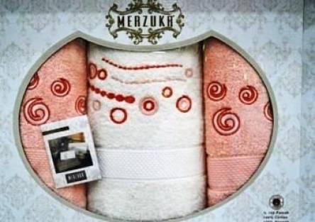 Наборы турецких полотец Merzuka тройка - фото 8