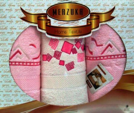 Наборы турецких полотец Merzuka тройка - фото 6