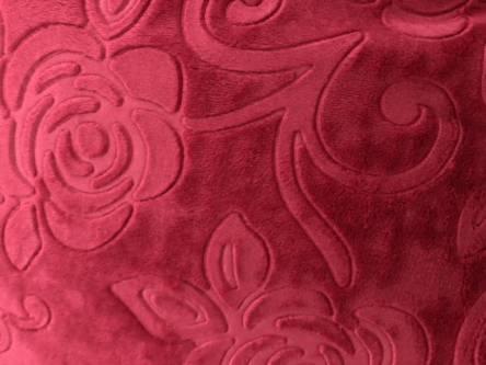 Плед из микрофибры Однотонная Роза Двухспалка - фото 5