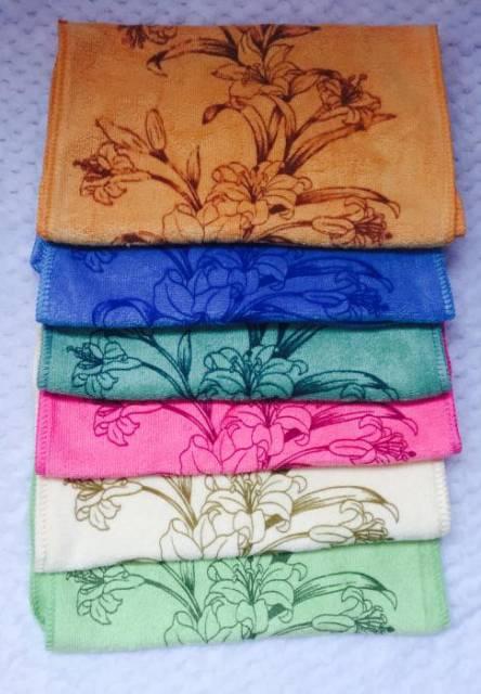 Полотенца для рук Микрофибра лилия - фото 1